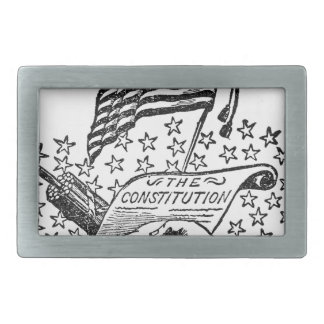 United States Constitution Belt Buckle