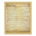 United States Constitution Poster/Print