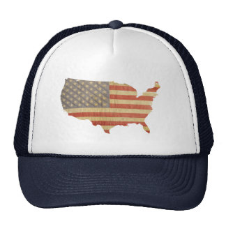 United States Country & Worn Flag Patch Hat