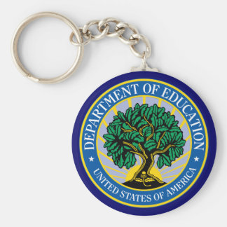 United States Department of Education Basic Round Button Key Ring