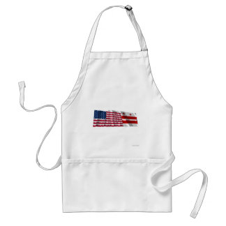 United States & District of Columbia Waving Flag Apron