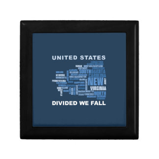 United States Divided We Fall HQ Colored Gifts Gift Box