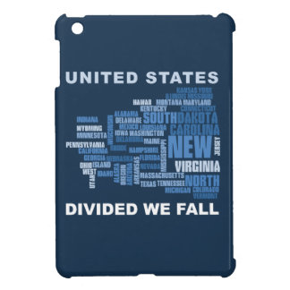 United States Divided We Fall HQ Colored Gifts iPad Mini Case