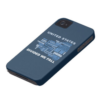 United States Divided We Fall HQ Colored Gifts iPhone 4 Case