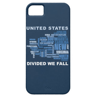 United States Divided We Fall HQ Colored Gifts iPhone 5 Cases