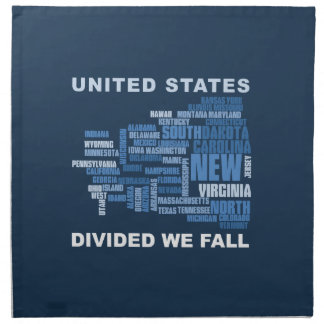 United States Divided We Fall HQ Colored Gifts Napkin