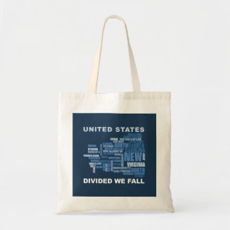 United States Divided We Fall HQ Colored Gifts Tote Bag