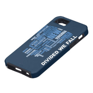 United States Divided We Fall HQ Colored Gifts Tough iPhone 5 Case