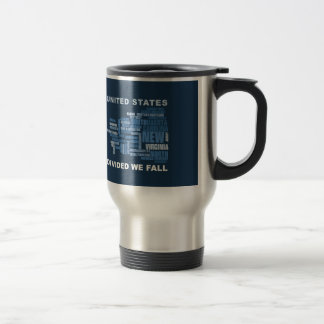United States Divided We Fall HQ Colored Gifts Travel Mug