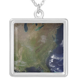 United States East Coast 2 Silver Plated Necklace