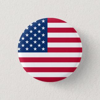 United States Flag 3 Cm Round Badge