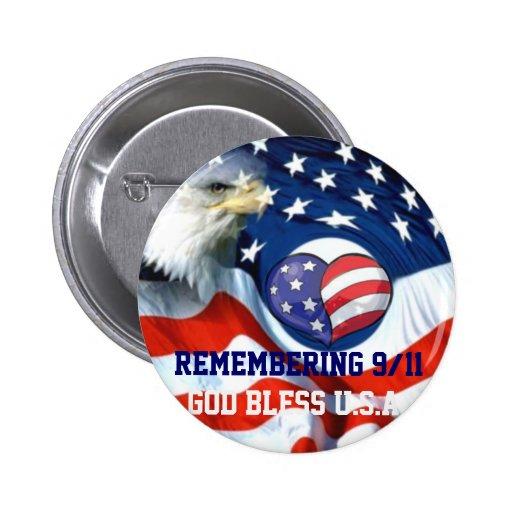 United States Flag,9/11_ Pinback Button