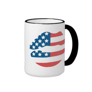 UNITED STATES FLAG America Ringer Mug