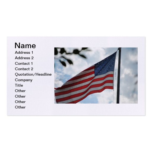 United States Flag Business Card