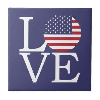 United States Flag Ceramic Tile