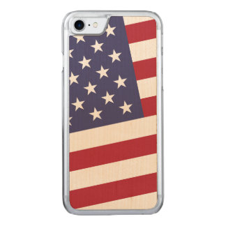 United States Flag Classic Stars and Stripes Carved iPhone 7 Case