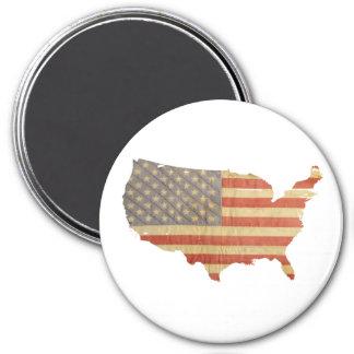 United States Flag & Country Fridge Magnet