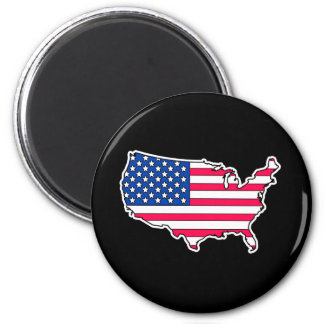 United states Flag country 6 Cm Round Magnet