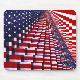 United States Flag-digital art_ Mouse Pad