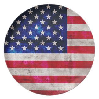 United States Flag Dinner Plates