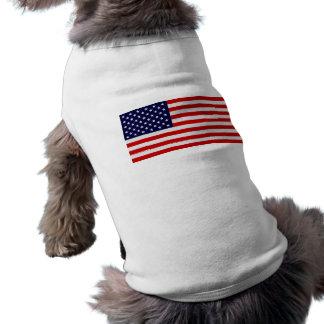 United States Flag Doggy Shirt Sleeveless Dog Shirt