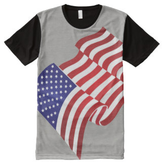 United States Flag full wave All-Over Print T-Shirt