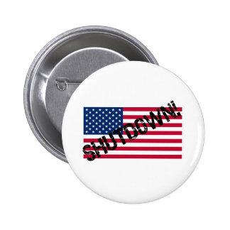 United States Flag Government Shutdown Button