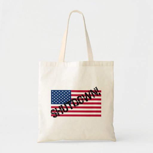 United States Flag Government Shutdown Tote Bags