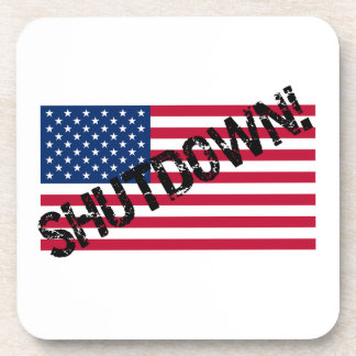 United States Flag Government Shutdown Drink Coasters