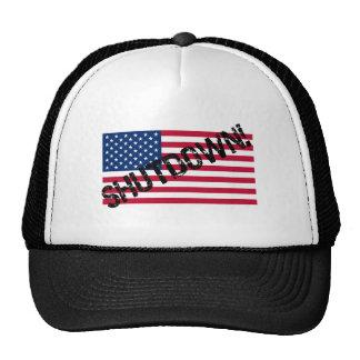United States Flag Government Shutdown Hat