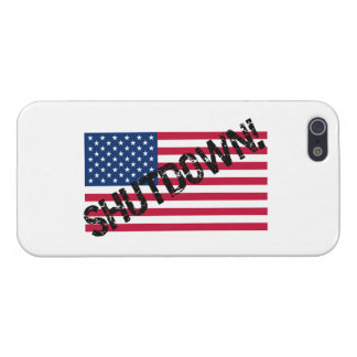 United States Flag Government Shutdown iPhone 5/5S Case