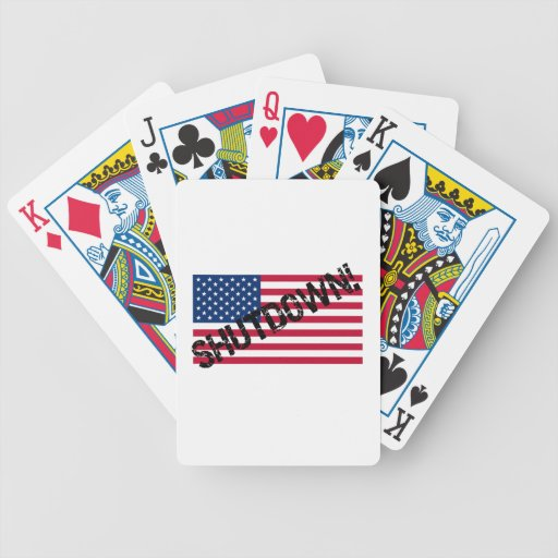 United States Flag Government Shutdown Bicycle Card Deck