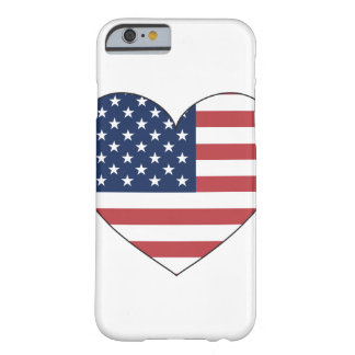 United States Flag Heart Barely There iPhone 6 Case
