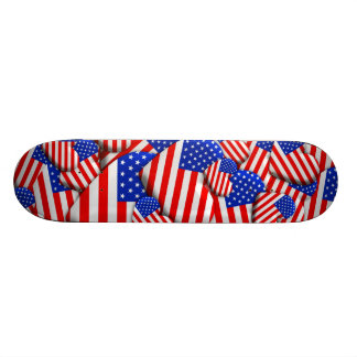 United States Flag Hearts Skate Board Deck
