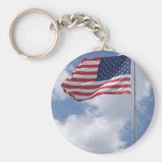 United States Flag Key Chain