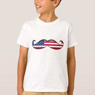 United States Flag Moustache T-Shirt