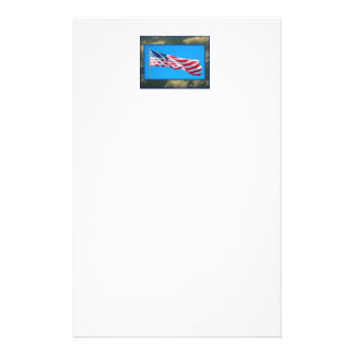 United States Flag Patriotic Stationery