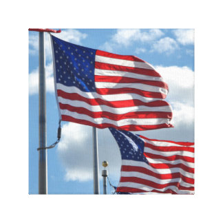 United States Flag Photograph Canvas Print