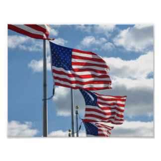 United States Flag Photograph Poster