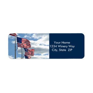 United States Flag Photograph Return Address Label