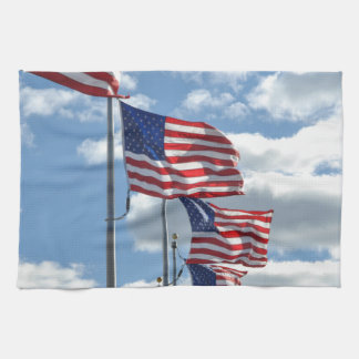 United States Flag Photograph Tea Towel