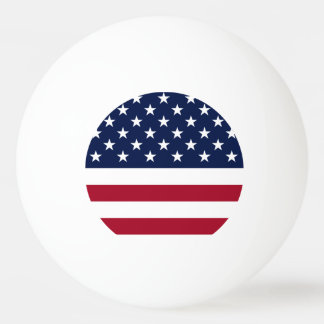 United States Flag Ping Pong Ball