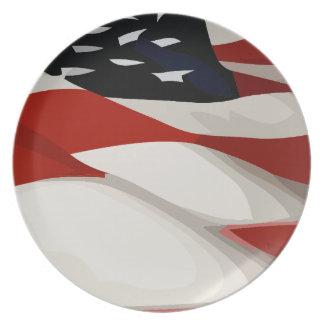 United States Flag Dinner Plate