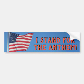 United States Flag Stand for the Anthem Bumper Sticker