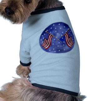United States Flags Ringer Dog Shirt