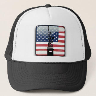 United States glossy flag Trucker Hat
