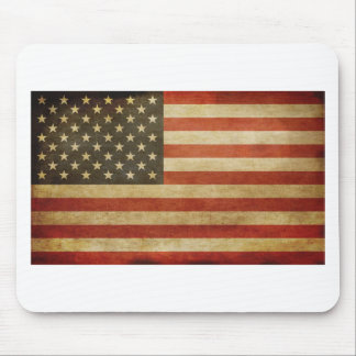 United States Grunge Style Mouse Pads