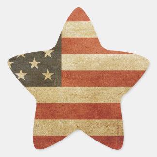 United States Grunge Style Star Sticker