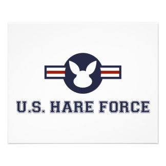 United States Hare Air Force Bunny 11.5 Cm X 14 Cm Flyer