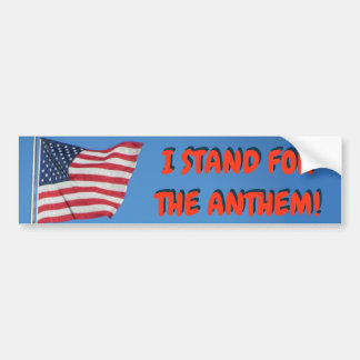 United States I Stand for the Anthem Flag Bumper Sticker